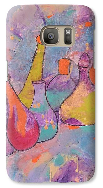 Galaxy Case featuring the painting Unique Bottles by Lyn Olsen