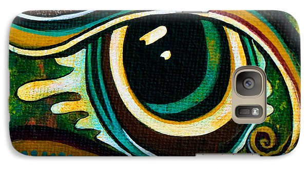 Galaxy Case featuring the painting Unique Spirit Eye by Deborha Kerr