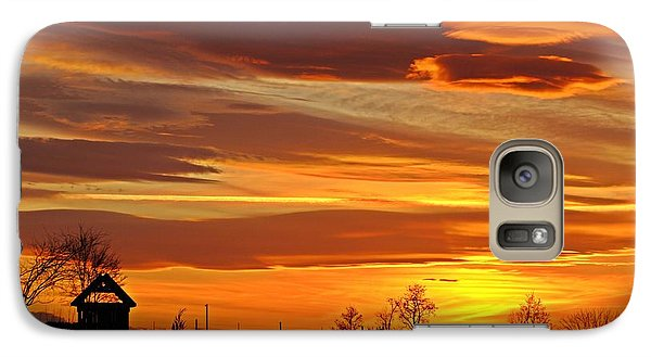 Galaxy Case featuring the photograph Unique Sunset by Lynn Hopwood