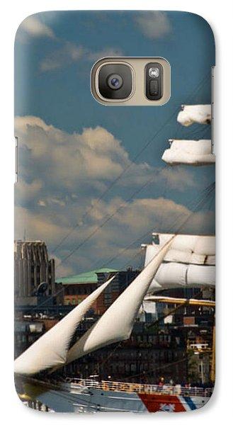 Galaxy Case featuring the photograph United States Coast Guard Cutter by Caroline Stella