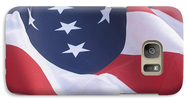 Galaxy Case featuring the photograph United States Flag  by Chrisann Ellis