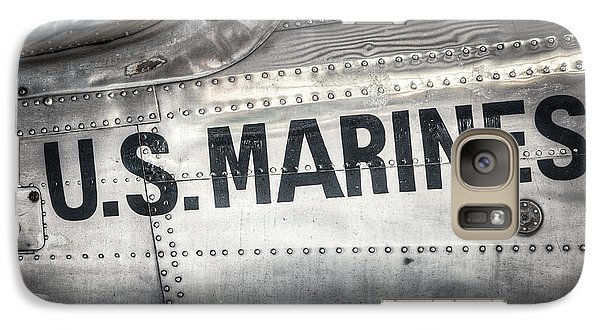 Galaxy Case featuring the photograph United States Marines - Beech C-45h Expeditor by Gary Heller