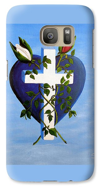 Galaxy Case featuring the painting Unity by Sheri Keith