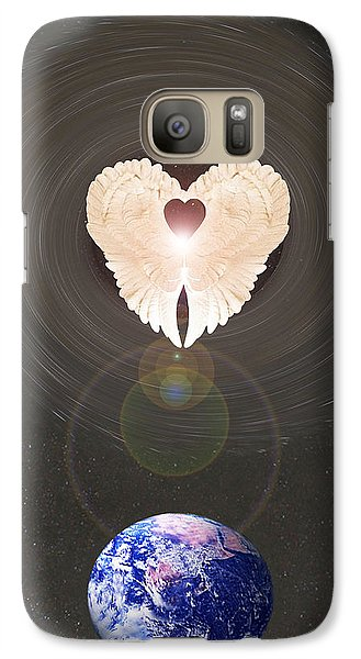 Galaxy Case featuring the photograph Universal Angel by Eric Kempson
