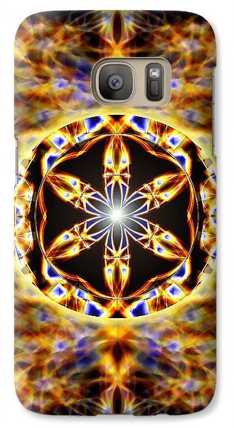 Galaxy Case featuring the drawing Universal Heart Fire by Derek Gedney