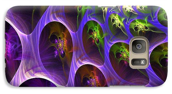 Galaxy Case featuring the digital art Universal Pods by Arlene Sundby