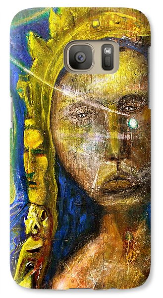 Galaxy Case featuring the painting Universal Totem by Kicking Bear  Productions