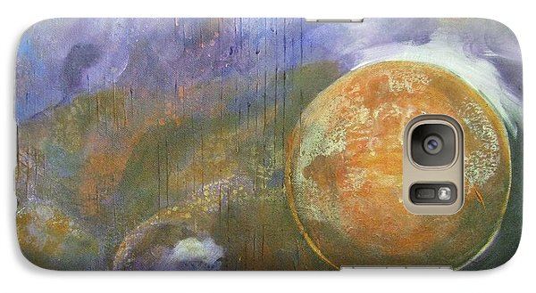 Galaxy Case featuring the mixed media Universe 4 by Riana Van Staden