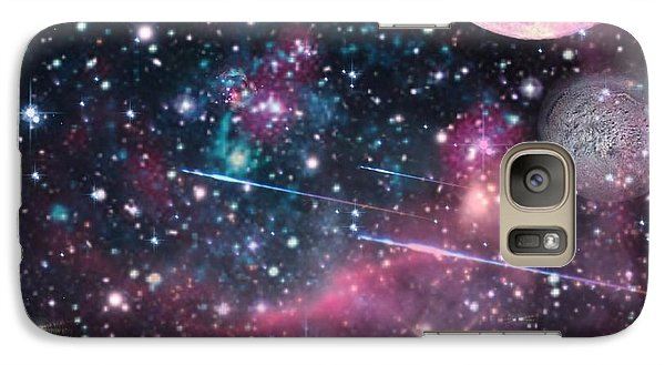 Galaxy Case featuring the digital art Universe - Abstract by Ester  Rogers
