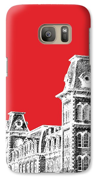 University Of Arkansas - Red Galaxy S7 Case by DB Artist