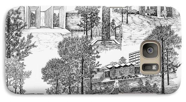 University Of Arkansas Galaxy Case by Liz  Bryant