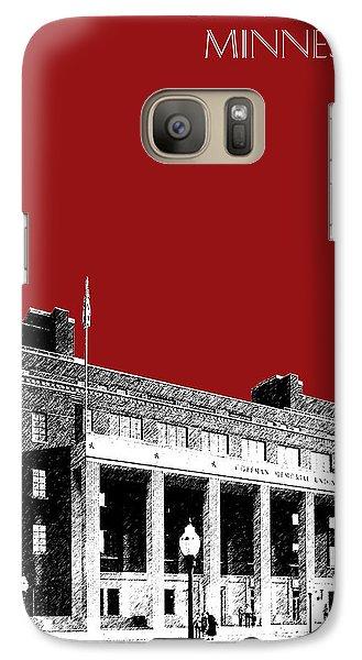 University Of Minnesota - Coffman Union - Dark Red Galaxy S7 Case by DB Artist