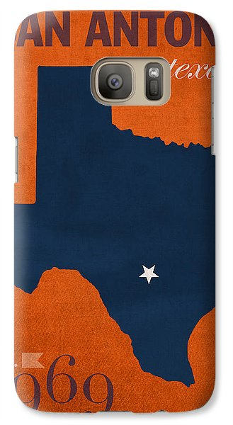 University Of Texas At San Antonio Roadrunners College Town State Map Poster Series No 111 Galaxy S7 Case