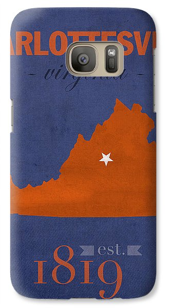 University Of Virginia Cavaliers Charlotteville College Town State Map Poster Series No 119 Galaxy S7 Case