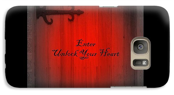 Galaxy Case featuring the photograph Unlock Your Heart by Linda Prewer