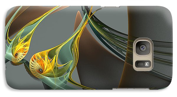 Galaxy Case featuring the digital art Fin And Wings by Linda Whiteside