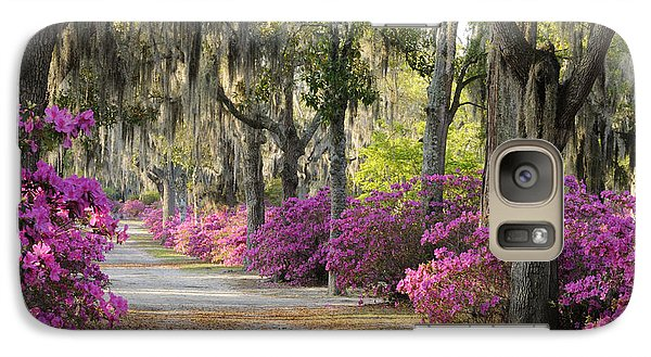 Galaxy Case featuring the photograph Unpaved Road With Azaleas And Oaks by Bradford Martin