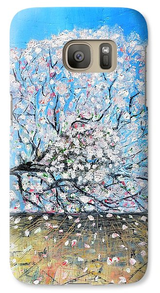 Galaxy Case featuring the painting Unstable Position by Evelina Popilian