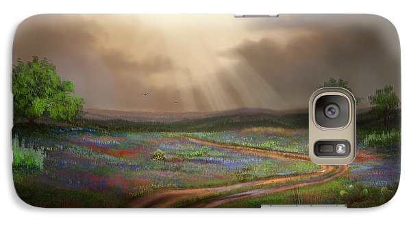 Galaxy Case featuring the painting Untamed Country by Sena Wilson