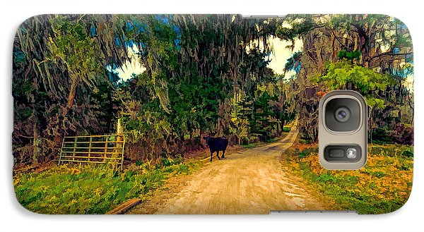 Galaxy Case featuring the photograph Until The Cow Comes Home by Lewis Mann