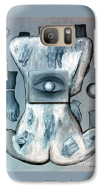 Galaxy Case featuring the painting Listen Via Your Eyes by Fei A