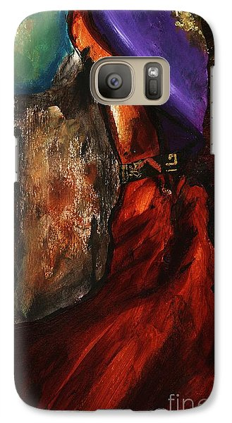 Galaxy Case featuring the painting Untitled Abstrak  by Alga Washington