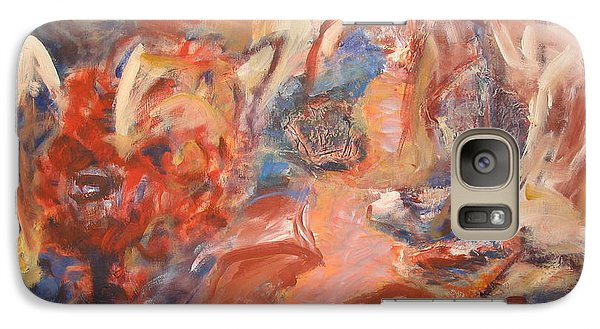 Galaxy Case featuring the painting Untitled Composition IIII by Fereshteh Stoecklein