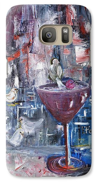 Galaxy Case featuring the painting Untitled by Evelina Popilian