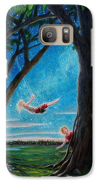 Galaxy Case featuring the painting Innocence  by Matt Konar