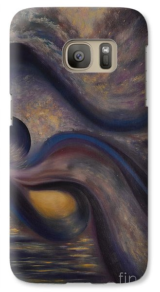 Galaxy Case featuring the painting Untitled by Stuart Engel