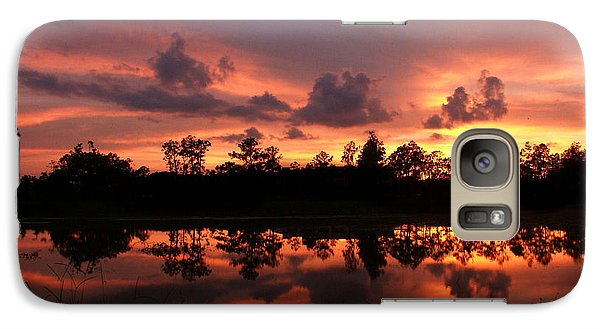 Galaxy Case featuring the photograph Untitled Sunset #37 by Bill Lucas