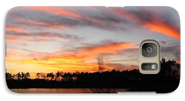 Galaxy Case featuring the photograph Untitled Sunset #47 by Bill Lucas