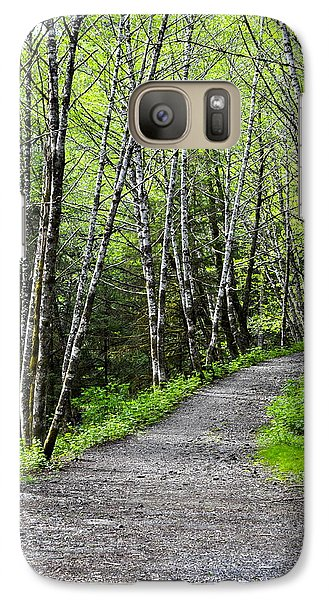 Galaxy Case featuring the photograph Up The Trail by Cathy Mahnke