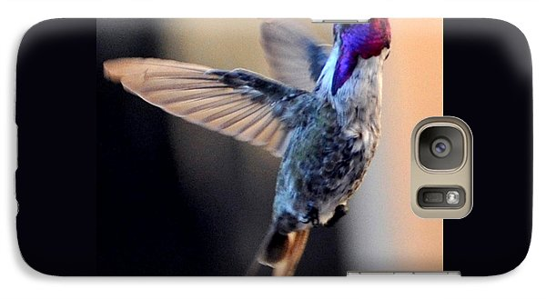 Galaxy Case featuring the photograph Up Up And Away Male Hummingbird by Jay Milo