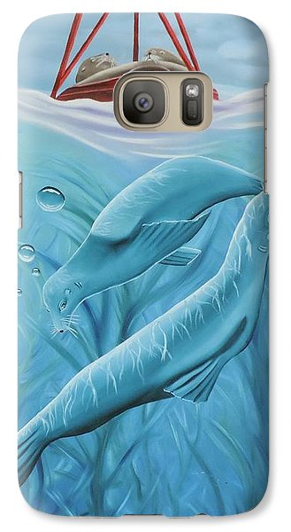 Galaxy Case featuring the painting Uphoria by Dianna Lewis