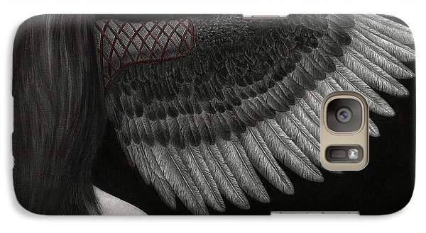 Galaxy Case featuring the painting Upon Ashen Wings by Pat Erickson