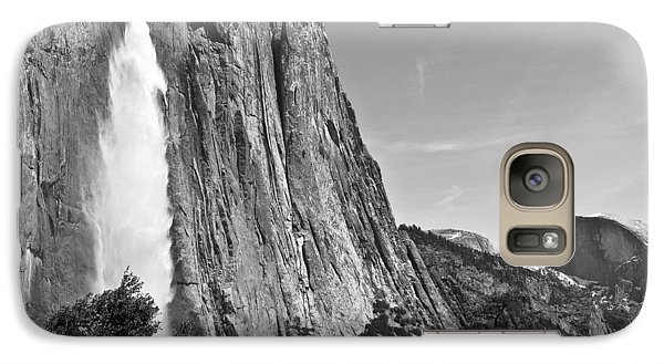 Galaxy Case featuring the photograph Upper Yosemite Fall With Half Dome by Shane Kelly