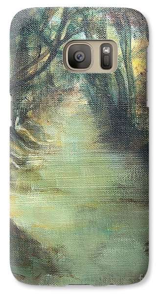 Galaxy Case featuring the painting Upstream by Mary Lynne Powers