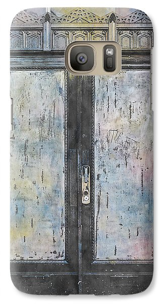 Galaxy Case featuring the photograph Urban Bank Doorway by John Fish