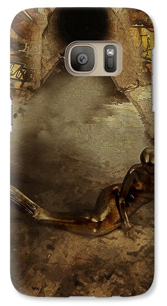 Galaxy Case featuring the digital art Urban Mermaid by Galen Valle