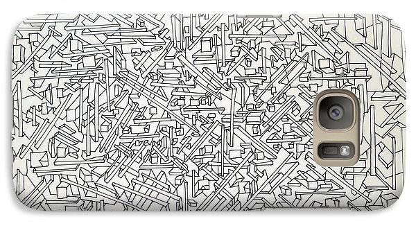 Galaxy Case featuring the drawing Urban Planning by Nancy Kane Chapman