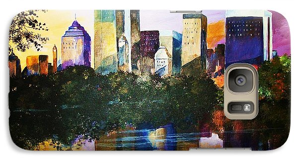 Galaxy Case featuring the painting Urban Reflections by Al Brown