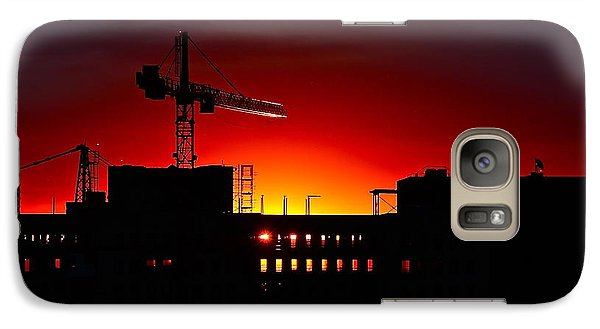 Galaxy Case featuring the photograph Urban Sunrise by Linda Bianic