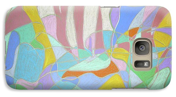 Galaxy Case featuring the painting Urban Utopia by Esther Newman-Cohen