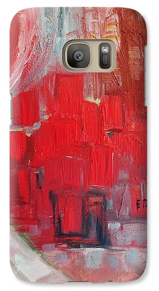 Galaxy Case featuring the painting Urban View by Evelina Popilian