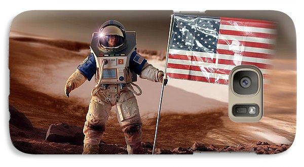Astronaut Galaxy S7 Case - Us Astronaut On Mars by Detlev Van Ravenswaay