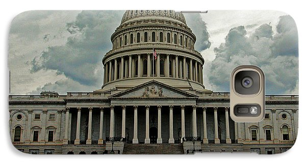 Galaxy Case featuring the photograph U.s. Capitol Building by Suzanne Stout