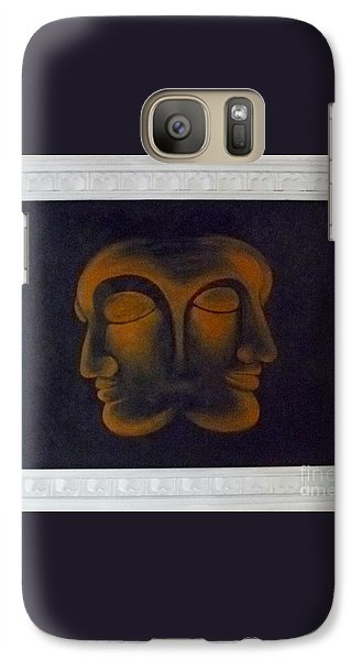 Galaxy Case featuring the painting Us by Fei A