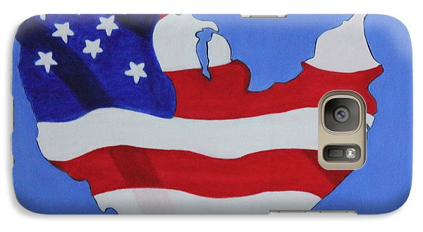 Galaxy Case featuring the painting Us Flag by Lorna Maza