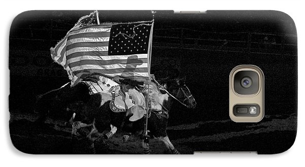 Galaxy Case featuring the photograph U.s. Flag Western by Ron White
